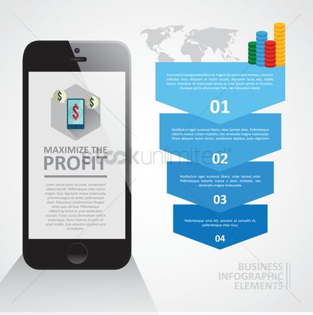 Profits : Business profile infographic