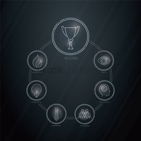 Motivation business : Business strategy icons set
