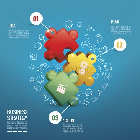 Copy spaces : Business strategy infographic