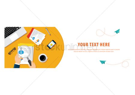 Magnifying : Business template design