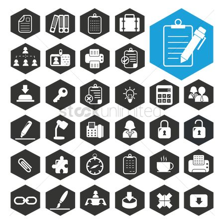 Highlights : Business work icon collection