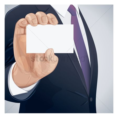 Workers : Businessman holding a blank card