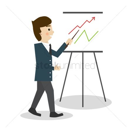 Profits : Businessman in a presentation