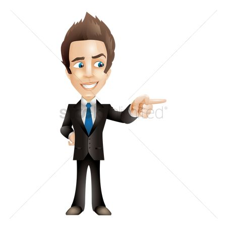 Businesspeople : Businessman pointing finger