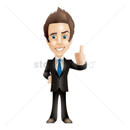 Businesspeople : Businessman showing thumbs up