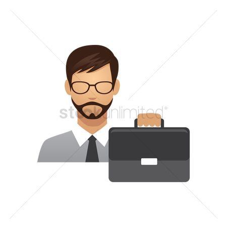 Managers : Businessman with briefcase
