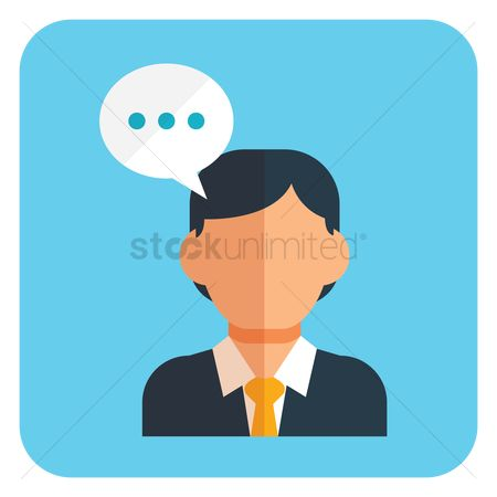 Businesspeople : Businessman with speech bubble
