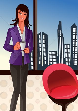 Office  building : Businesswoman