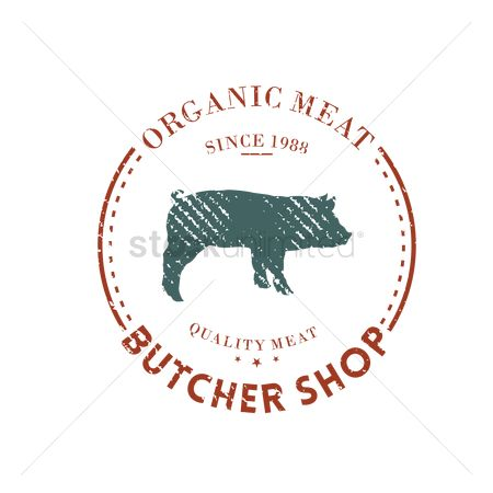 Insignia : Butcher shop label