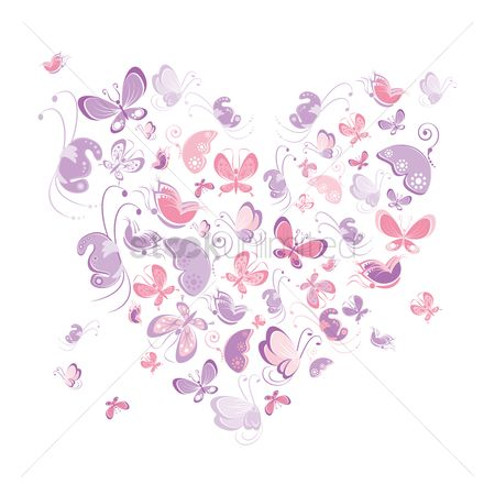 Heart shape : Butterflies in a heart shape