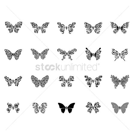 8230724e628d2 Free Butterfly Tattoo Stock Vectors | StockUnlimited