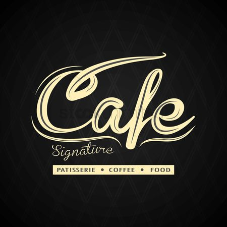 Signatures : Cafe menu design