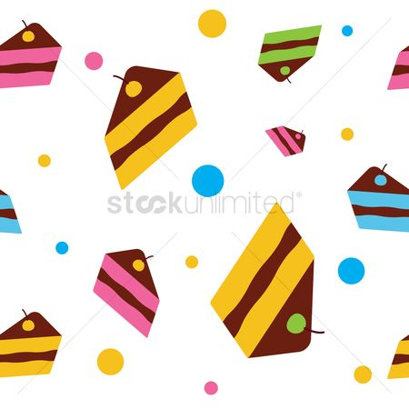 Flavors : Cake seamless pattern