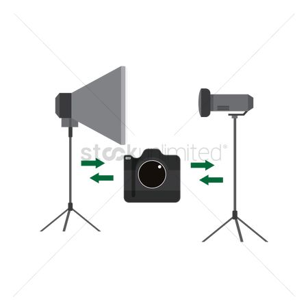 Lighting : Camera connecting to studio lighting