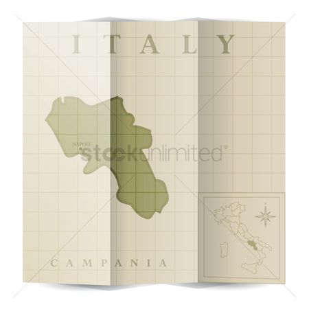 Highlights : Campania paper map