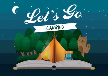Cartoon : Camping design