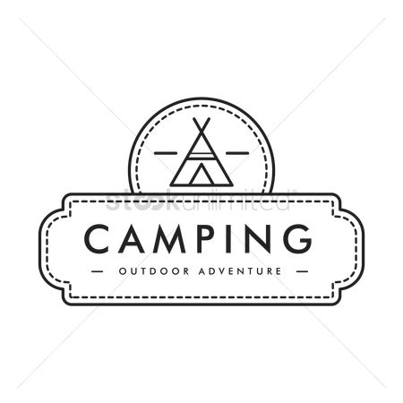 Tents : Camping outdoor adventure label