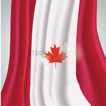 Cloth : Canada flag