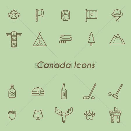 Broom : Canada icons