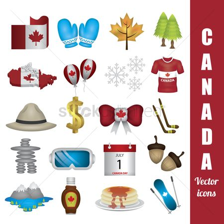 Hotcake : Canada vector icons pack