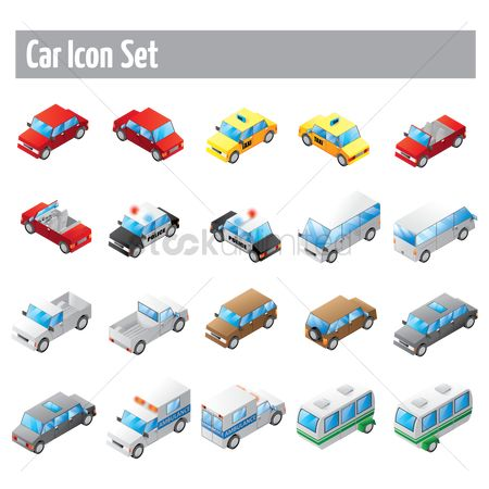 Taxis : Car icon set