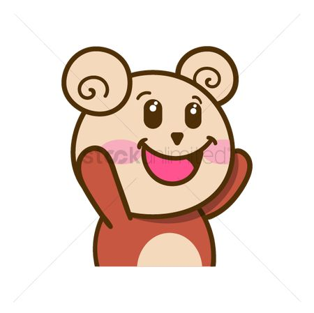 Teddybear : Cartoon bear feeling happy
