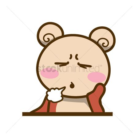 Teddybears : Cartoon bear sighing
