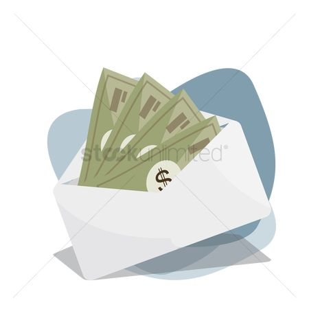 Currencies : Cash in envelope