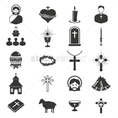 Buildings : Catholic religion icons