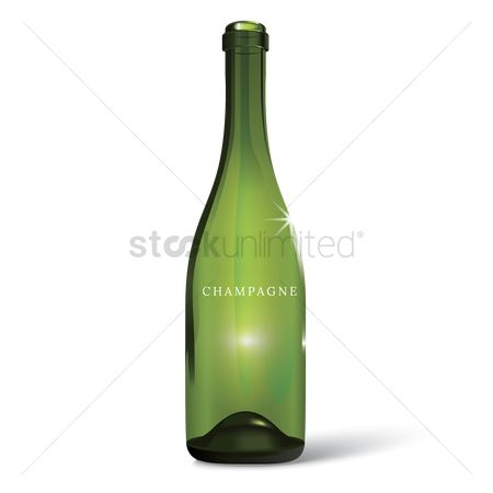 Champagnes : Champagne bottle