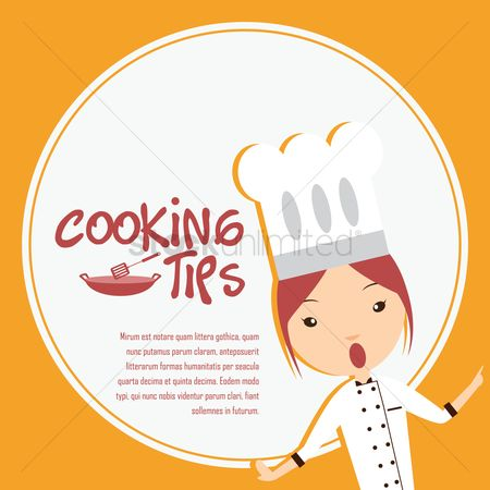 Tips : Chef giving cooking tips