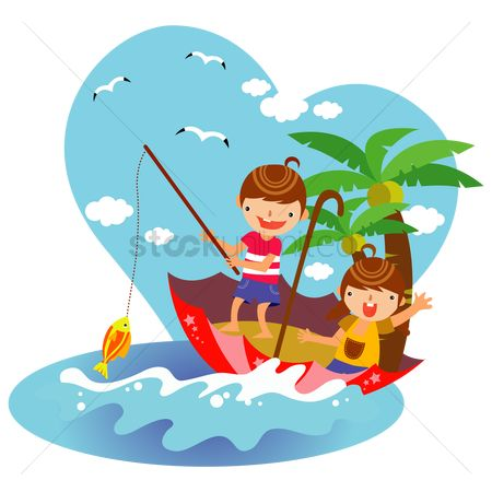 Activities : Children fishing