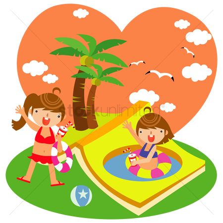 Swimsuit : Children on summer vacation