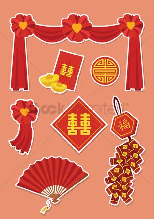 Cloth : Chinese wedding decorations