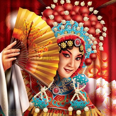 Accessories : Chinese woman in traditional wear