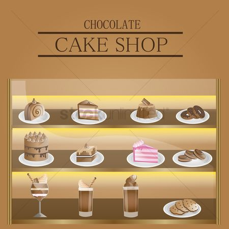 Biscuit : Chocolate cake shop display