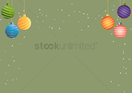 Bauble : Christmas background