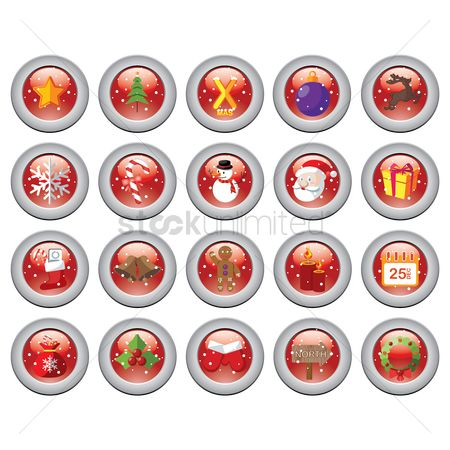 Sock : Christmas button set