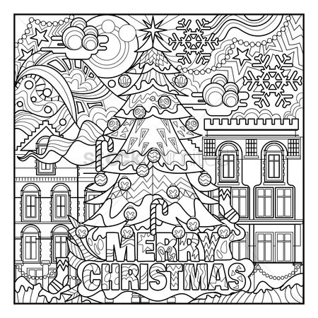 Buildings : Christmas coloring book prints