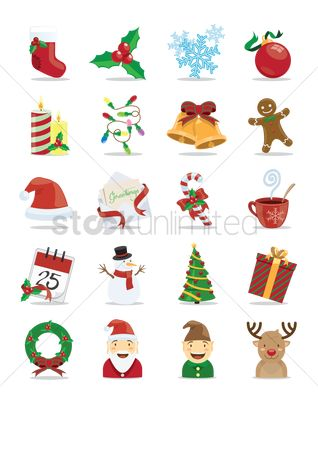 Gifts : Christmas icon set