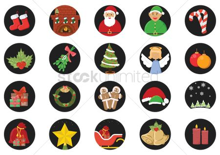 Sock : Christmas icon set
