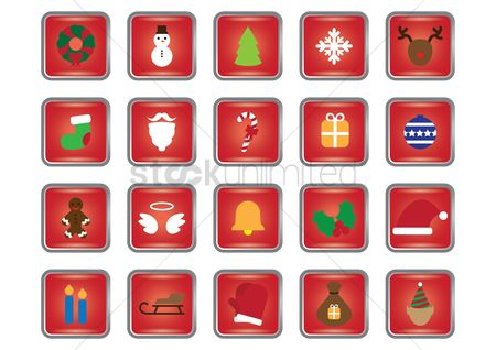 Moustache : Christmas icons