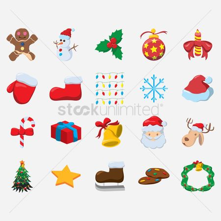 Biscuit : Christmas icons