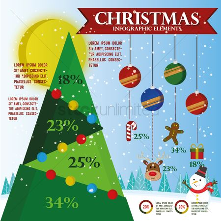 Santa : Christmas infographic element
