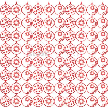 Bauble : Christmas pattern background
