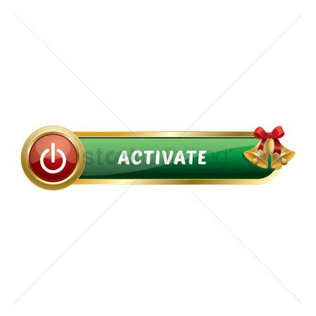 Jingle bells : Christmas themed activate button