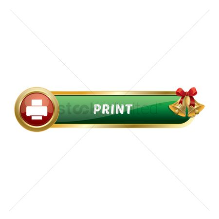 Jingle bells : Christmas themed print button
