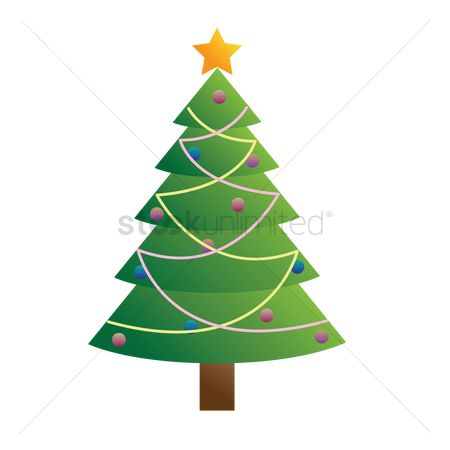 Bauble : Christmas tree on white background