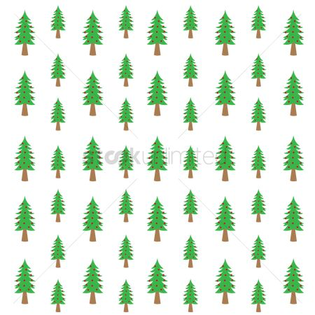 Stems : Christmas tree pattern background