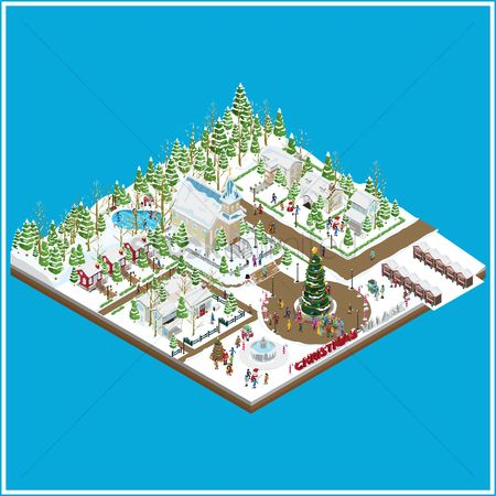 Boxes : Christmas village